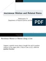 Rectilinear Motion and Related Rates