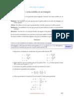 Ecuaciones de rectas notables
