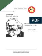 Filosofía Vol III - Nestor Kohan - El Capital Historia y Metodo