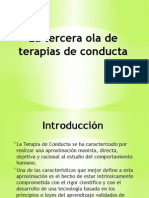 10.- Tercera Ola de Terapias de Conducta