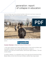 Syria's Lost Generation Report Counts Cost of Collapse in Education System