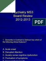 2012-13 Psychiatry Board Review