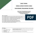 Form Data Teknis Pembangunan Kantor