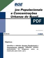 Arranjos populacionais e deslocamento urbano - 2010