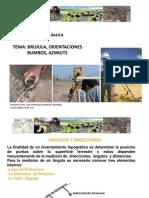 Brujula, Orientaciones, Rumbos, Azimut (Enero 2015)