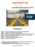Research Paper for Malaysia Land Transportation Sector 2015