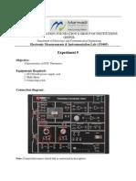 Characteristics of NTC Thermistor.