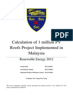 Calculation of PV Roofs Project
