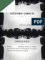 1medio-Genero Lirico -2013- Prof. Kimberly Gonzalez