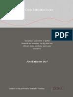 Crisis Sentiment Index Q4 2014 CRO Opinion