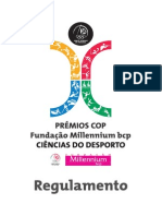 Regulamento Premios COP-Millennium Bcp Ciencias Do Desporto