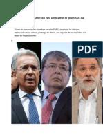 Las Duras Exigencias Del Uribismo Al Proceso de Paz