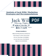 Analysis of JackWills' Marketing Strategies