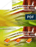 Formularium Sediaan Obat Herbal Asli Indonesia