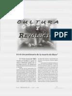 Cultura y Revolución. Mijail Lifshits.