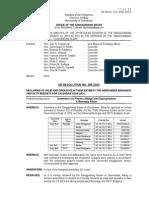 006-2014 SB Res. - Barangay Budget