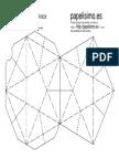 Plantilla Caja Estrella Printable