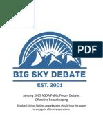 Big Sky Debate January 2015 Public Forum Offensive Peacekeeping Copy