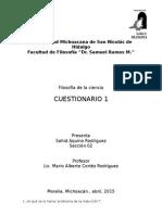 Cuestionario - Ciencia 1