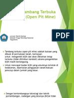 Tambang Terbuka (Open Pit Mine)
