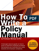 Office Policy Manual Reference Guide