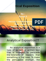 Analytical Exposition