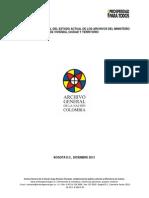 Diagnóstico Integral Del Estado Actual de Los Archivos Del MVCT