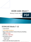 ECON 1102 Week 7 Post Lecture