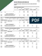 Analisis de Costos - Partidas FEBRERO 2013