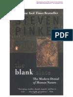 Steven Pinker the Blank Slate the Modern Denial of Human NaturePageOneThroughTwentyFive