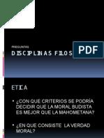 DISCIPLINAS FILOSOFICAS