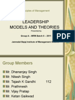 Leadership Models Theories