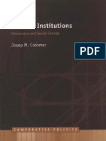 Josep H. Colomer Political Institutions Democracy and Social Choice Comparative European Politics 2001