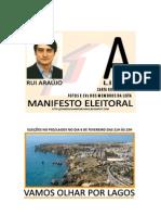Manifesto Eleitoral da Candidatura Vamos Olhar por Lagos (Lista A)