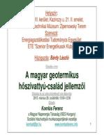 A magyar geotermikus hőszivattyú-család jellemzői