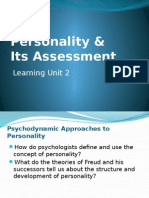 LU 4 Personality Its Assessment (1)