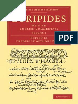 Euripides (Ed Paley) - V1- Rhesus, Medea, Hippolytus