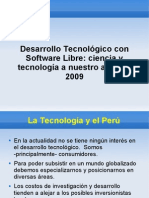 Investigación y Desarrollo Tecnologico con FLOSS