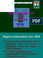 Right to Information Act 2005 an Overview