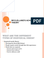 McClelland's Achievement Theory