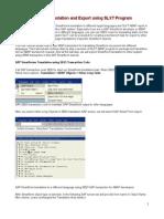 SE63 Smartform Translation and Export Using SLXT Program