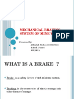 Mechanical Braking System of Mine winders