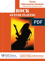 RGT Rock Guitar Information Booklet