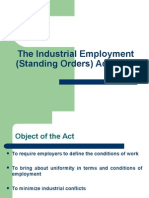 Industrial Employment Standing Order Act