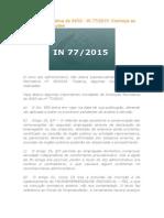 Instrução NInstrução Normativa Do INSS 2015
