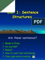 Unit 1 Sentence Structures_2013