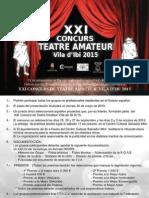 Ibi Xxi Concurs de Teatre Amateur Vila d'Ibi 2015 - Castellano & Valenciano