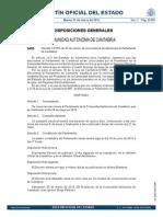 Decreto de convocatoria elecciones autonómicas Cantabria 2015