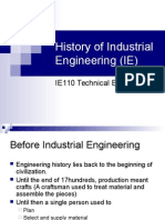 History of Industrial Engineering (IE)