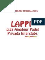 Calendario Definitivo Lappi 2015 Cruces Fase Regular